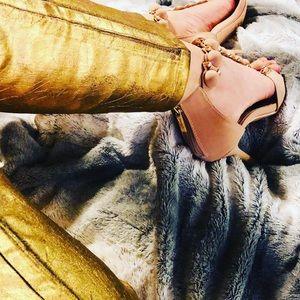 Gold Skinny Pants